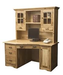 Amish Made Computer Desks Amish Rustic Mission Wedge Computer Desk Hutch Cpu Cabinet Wood