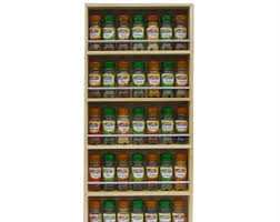 Spice Rack Wall Mount Wood Wall Spice Rack Etsy