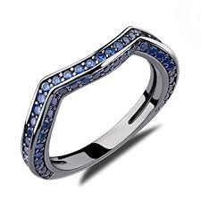 sapphire wedding ring caperci created blue sapphire wedding ring for
