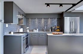 kitchen view light grey cabinets small floor plan design virtual