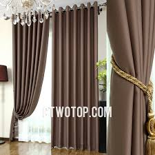 chocolate thick and luxury blackout toile bedroom simple curtains
