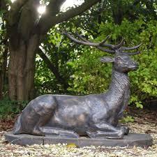 large size bronze stag sculptures deer garden ornaments
