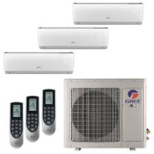 ductless mini split cassette gree multi 21 zone 24 000 btu 2 ton ductless mini split air