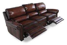 bernhardt reese double reclining leather sofa mathis brothers