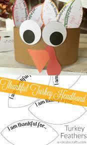 thankful turkey headband printable to help keep the occupied