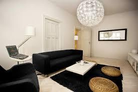 living room decor black sofa interior design