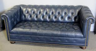 Leather Chesterfield Sofa Navy Blue Leather Chesterfield Sofa