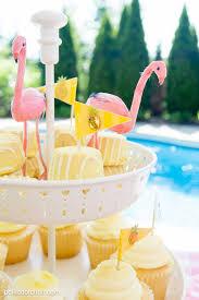 summer backyard flamingo pool party ideas the polka dot chair