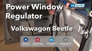 how to install replace broken power window regulator volkswagen