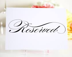 reserved signs for wedding tables reserved sign table numbers reception and wedding