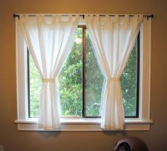 Small Window Curtain Decorating Idea For The Living Room But 3 Panels And Another Curtain