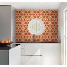 kitchen mod orange kitchen wallpaper bright orange feature wall in a modern