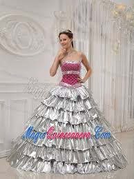 light pink quince dresses pink and silver quinceanera dress by satin and taffeta with