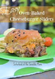 easy oven baked cheeseburger sliders sisterhood of the sensible