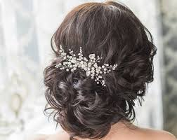 wedding hair clip wedding hair accessories etsy