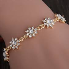 flower girl charm bracelet shuangr wholesale pretty flower gold color charm bracelets girl