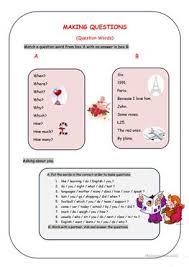 24 free esl making questions worksheets