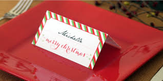 holiday place card diy printable