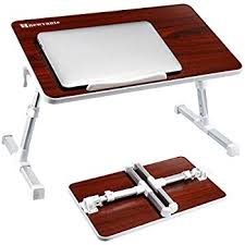 amazon com laptop bed tray table adjustable laptop stand