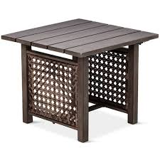 white patio side table patio side table amazing fabron threshold target intended for 5