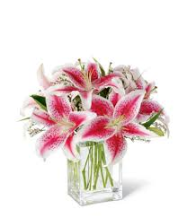 bouquet of lilies the shining stargazer bouquet at from you flowers