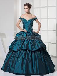 quince dress the shoulder beaded taffeta quinceanera dress