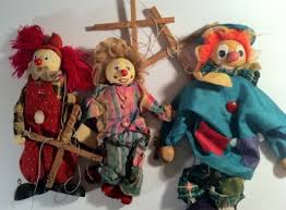 clown puppets for sale wooden clown puppets stringed for sale in harold s cross