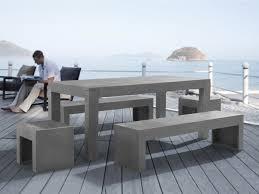 banc beton cire table en béton 180 cm 2 bancs et 2 tabourets en béton taranto