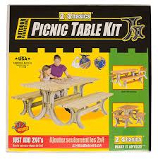 amazon com hopkins 90182onlmi 2x4basics picnic table kit sand