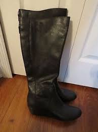 womens black leather boots size 11 buy ugg australia black leather knee high wedge size 11