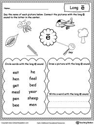 long e sound worksheet long vowels printable worksheets and