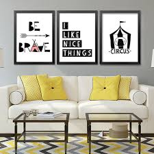 Aliexpresscom  Buy Be Brave Circus Wall Art Canvas Painting - Prints for kids rooms