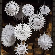 snowflake decorations set of ten paper snowflake decorations by boase ltd