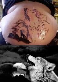 Bad Tattoo Meme - found the source of the horrified wolf tattoo meme guy