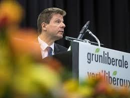 der zuercher nationalrat martin baeumle ist an der delegiertenversammlung der gruenliberalen fuer eine weitere amtsperiode als praesident der gruenliberalen