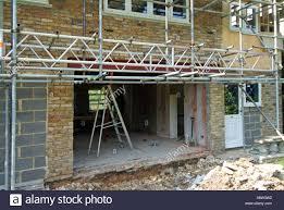 New Patio Doors Enlarging House Doorway For New Patio Doors Showing New Steel Beam