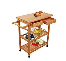 rolling kitchen islands amazon com tenive pine wood dining trolley rolling kitchen