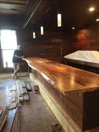 basement bar top ideas barnwood bar with live edge cedar tops and barn tin sides home