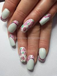 eye candy nails u0026 training mint green and white gel with