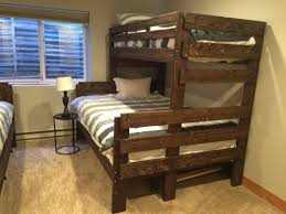 best twin over queen bunk bed plans modern storage twin bed