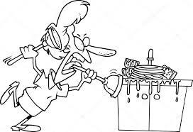 dessin evier cuisine dessin animé bouché un évier de cuisine image vectorielle