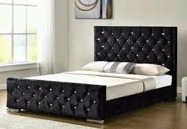 double bed chesterfield sleigh style upholstered designer bed