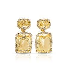 judith ripka earrings judith ripka ltd monaco canary earrings with diamonds