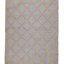shailee gold thread blue u0026 cream dhurrie rug mahout lifestyle