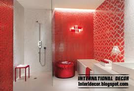 modern red wall tiles designs ideas for bathroom home decoration
