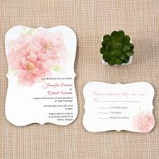 trendy blush pink flower wedding invitation cards with bracket