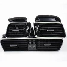 volkswagen passat black qty 3 oem black piano paint chrome car center console air