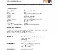 simple curriculum vitae format striking resume formatord download free inspirational student cv
