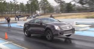 cadillac cts v coup record setting 9s cadillac cts v coupe likes to pull wheelies for