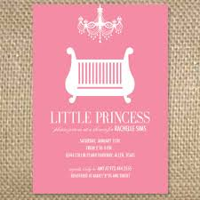 baby shower invite wording baby girl chandelier crib shower invitation 2 50 via etsy